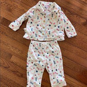 Juicy Couture girls pajama set